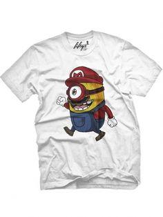 "Men's ""Super Minions"" Tee by Fifty5 Clothing (White) #inkedshop #minion #mario #superminion #cute #tshirt"