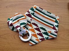 6ef202c7853 ankara baby bib and teething ring Bandana Print