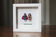 Superheroes Framed Mini Figures Superman & by PrettyPeculiarUK