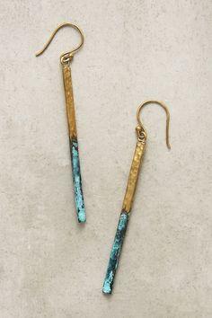 Linear Drop Earrings - $38