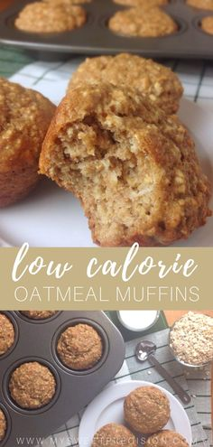 These low calorie muffins are made with applesauce and oatmeal. Each muffin is o… These low calorie muffins are made with applesauce and oatmeal. Each muffin is only 113 calories! Perfect for any meal plan! Low Calorie Baking, Filling Low Calorie Meals, Low Calorie Sweets, Low Calorie Muffins, Low Calorie Meal Plans, Healthy Low Calorie Meals, Low Calorie Dinners, No Calorie Foods, Low Calorie Recipes