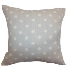 Rennice Ikat Dots Cotton Throw Pillow