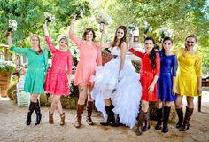 Casamento Country, Cowgirl, Cowboy, Wedding Country, Casamento Country, Western Wedding, Bride, Madrinhas, Colors