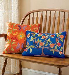 folk art pillows - Traditional/Modern