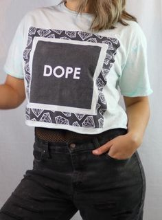 62ef82e5400 Dope croptop. For sale on depop bannedtees Distressed Clothes, Diy Crop Top,  Dope