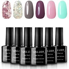 Gellen Various 6 Romantic Colors Gel Nail Polish Starter Kit Set *** You can get additional details at the image link. (This is an affiliate link)