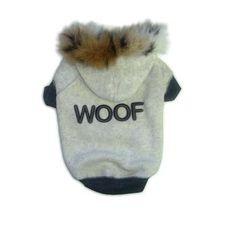 Woof Fleece Hoodie at BaxterBoo