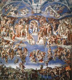 Michelangelo: O Juízo Final, 1534-41. Capela Sistina
