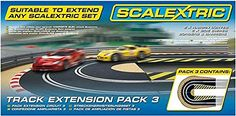 Slot Cars - Scalextric C8512 Track Extension Pack  2x Hairpin Curves 2 Side Swipes Borders Barriers * Click image to review more details.