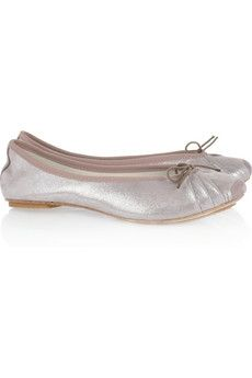 Repetto | Bolchoi metallic leather ballet flats | NET-A-PORTER.COM - StyleSays