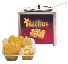 Nacho Cheese Warmer with Cheese & Trays