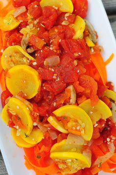Garden Vegetable Spaghetti (paleo, vegan)