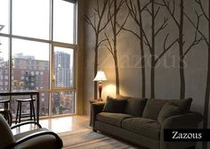 Art Wall Decals Wall Stickers Tree Decal Winter Trees by Nou Wall - modern - decals - Etsy.Perfect for Dinning Room Tree Decals, Vinyl Wall Decals, Brown Wall Stickers, Buy Stickers, Brown Walls, Beige Walls, Winter Trees, Home And Deco, My New Room