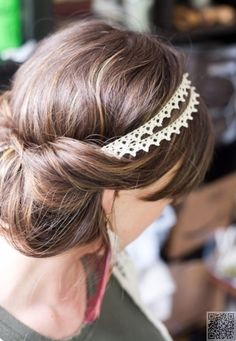 4. Bun into a #Headband - 7 Hairstyles for #Humid Weather so You Don't Feel Icky ... → Hair #Surprisingly