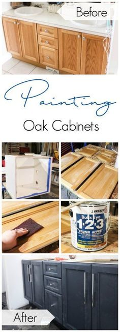 How to Paint Oak Cab