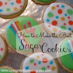 how to make sugar cookies | living well spending less | frugal living