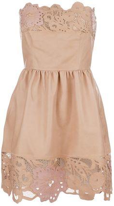laser cut leather dress, valentino.