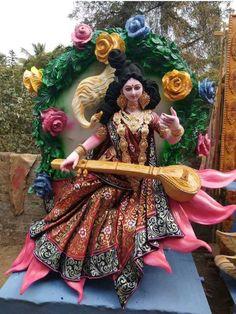 Durga Ji, Saraswati Goddess, Shiva Shakti, Saraswati Mata, Happy Diwali Images, Ganesh Idol, Rangoli Designs Flower, Lord Krishna Wallpapers, Hindu Mantras