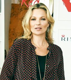 Loving Kate Moss's natural beauty look