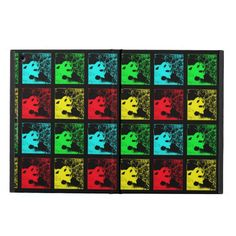 """iPad Air Case, Giant Panda, Pop Art - This red, yellow, blue, and green Pop Art iPad Air case is part of our """"Giant Pandas"""" collection. It is a great Christmas gift. There are matching greeting cards. The colorful design adds to the fun, and makes it great as a Christmas gift. My original photo was taken in Chengdu, China. All Rights Reserved © 2013 Alan & Marcia Socolik #GiantPandas #PandaLovers #iPadAir #iPadAirCases #CasesForIPadAir #PopArt"""