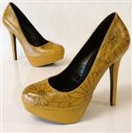 Hand painted sunflower yellow pumps from Hourglass Footwear!