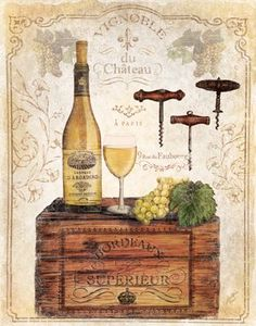 Crated Wine Collage I
