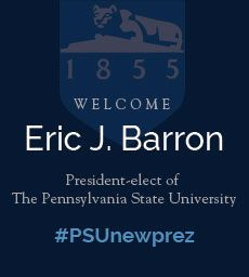 2/17/14 -- The Board of Trustees has approved Eric J. Barron as the new Penn State president. A press conference for media and an interview will be aired on WPSU online--all streamed live at http://wpsu.org/live.   #PSUnewprez
