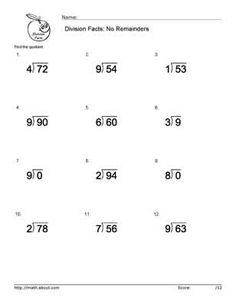 math worksheet : boost your children s math skills with these basic division  : Basic Math Skills Worksheet