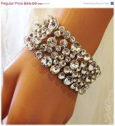 Crystal cuff bracelet.
