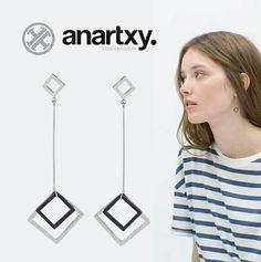 Belleza geométrica  #anartxy #acero316L #JoyasEnAcero #JóiasEmAço #SteelJewel #BijouxEnAcier #estilo #style #woman #joyas #jewelry  #moda #tendencias