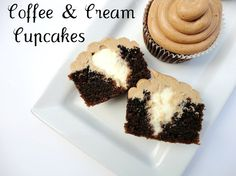 Coffee and Cream Cupcakes ~ veronicascornucopia.com