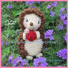 Hedgehog with Little Friend Ladybug Amigurumi Crochet Pattern by HandmadeKitty by HandmadeKitty=^_^=, via Flickr