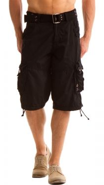 Details about Long style Cargo shorts for men Multi-pockets, bLACK ...