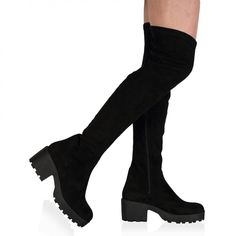 Carmen Over The Knee Black Boots