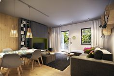 A Cheerful Interior With Pink and Green Accents