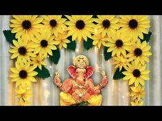 Diwali Decorations At Home, Backdrop Decorations, Festival Decorations, Paper Decorations, Flower Decorations, Background Decoration, Flower Decoration For Ganpati, Eco Friendly Ganpati Decoration, Ganpati Decoration Design