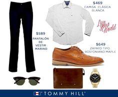 Los mejores #outfit para #caballero los encuentras en Tommy Hill.   ¡Moda hecha a tu medida!