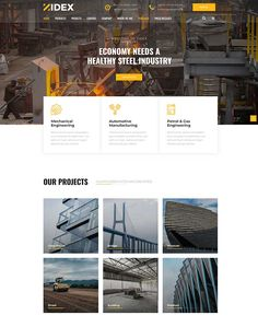 Zidex - Industrial & Factory WordPress Theme - ModelTheme Manufacturing Engineering, Wordpress Theme, Industrial, Steel, Building, Projects, Log Projects, Blue Prints, Buildings