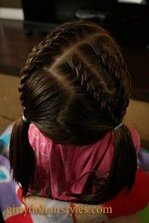 This blog is amazing for little girl hair! 8/13/13 Did this style to Gracie's hair.  I liked it too.