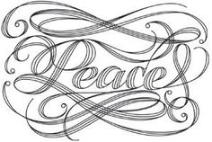 Kalligrafikus Peace_image