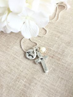 Cross Necklace . Hope Necklace . Faith Necklace . Faith Jewelry . Religious Jewelry . Custom Jewelry