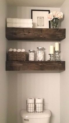 Rustic+Wood+Beam+Bathroom+Shelves