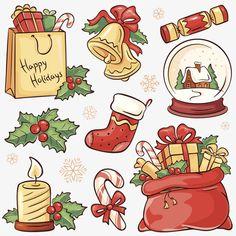 Christmas Doodles, Christmas Drawing, Christmas Mood, Christmas Clipart, Christmas Bells, Christmas Printables, Christmas Baubles, Illustration Noel, Christmas Illustration