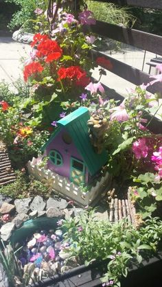 My first attempt at making a fairy garden