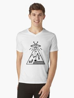 This is not a conspiracy theory, this is the reality! They Made Us! / They Made Us / They Watch Us / They Want Us Conspiracy, Tshirt Colors, Outer Space, Theory, Chiffon Tops, V Neck T Shirt, Shirt Designs, Classic T Shirts, Slim