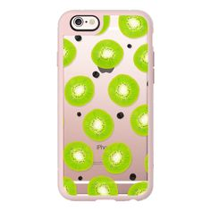 Modern spring summer kiwi fruits pattern watercolor hand painted polka... (€36) ❤ liked on Polyvore featuring accessories, tech accessories, iphone case, iphone cases, iphone hard case, iphone cover case, apple iphone cases and polka dot iphone case