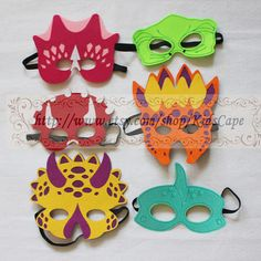 Dinosaur Costum masks for kids birthday party Dress by KidsCape