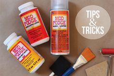 modpodge tips and tricks