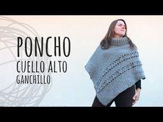 Tutorial Poncho Cuello Alto Crochet   Ganchillo - YouTube