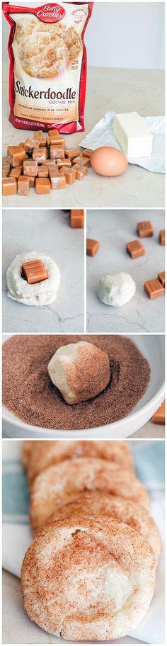 Caramel-Stuffed Snickerdoodles #bettycrocker
